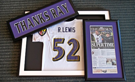 Jersey-Framing Package or $40 for $110 Worth of Framing Services at Framing Palace
