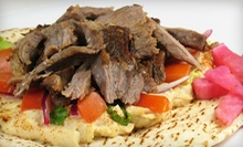 Gyros, Desserts, and Drinks for 2 or 4, or Gyros and Salad for 10 at Go Go Gyro (Up to 56% Off)
