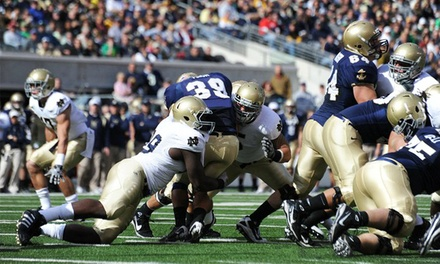 One Ticket to a Navy vs. Notre Dame Football Game from RPPI (Up to 52% Off). Two Seating Options.