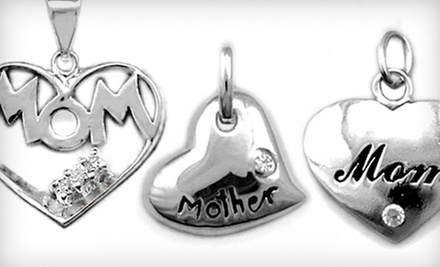 C$15 for a Sterling-Silver Mothers' Day Heart-Pendant 18-Inch Silver Chain at Silver Street Jewellers (a C$59.99 Value)