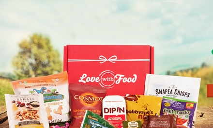 One- or Three-Month Deluxe Snack Subscription from Love With Food (Up to 57% Off)