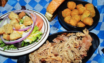 BBQ Dinner for Two or Family Feast for Four to Five at Jake's Smokehouse Bar-B-Que (Up to 42% Off)