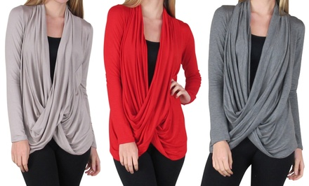 groupon daily deal - Free to Live Women's Criss-Cross Cardigans. Free Returns.