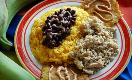 Colombian Lunch for Two on Thursday or Friday with Mango Beverages or $12 for $24 Worth of Comfort Food at Arepas & Co