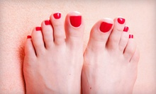 Basic Mani-Pedi or One or Two Shellac Manicures and Basic Pedicures at Serenity Nails & Spa (Up to 58% Off)