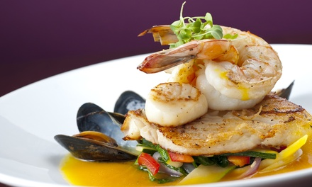 $46 for Appetizers, Entrees, and Wine for Two at ROW Seafood By Captain Brien & Crew ($78 Value)