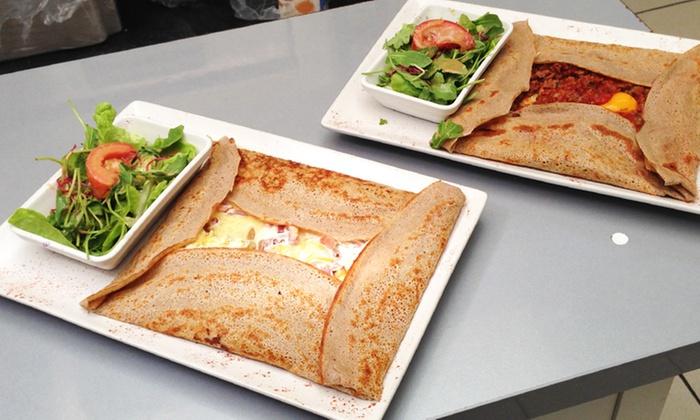 sarl saratto so crepe pizza mandelieu la napoule cr pe sal e et dessert au choix pour 2. Black Bedroom Furniture Sets. Home Design Ideas
