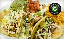 Mexican Food at Mijo's Mexican (Half Off). Two Options Available.