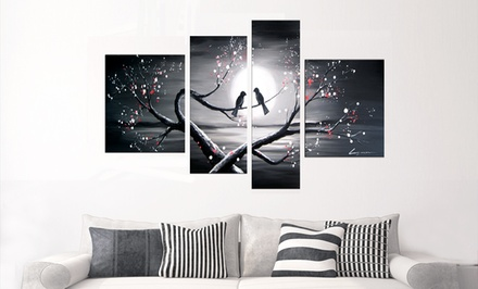 Hand-Painted Oil Painting on Canvas, Single- and Multipanel. Multiple Pieces and Sizes Available.