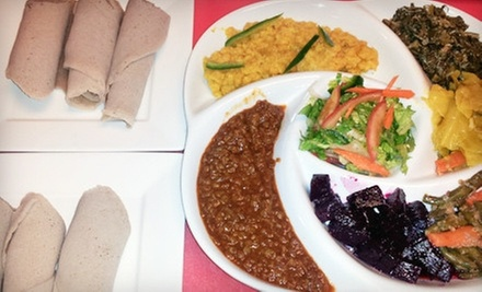 Ethiopian Cuisine at Mesob Ethiopian Restaurant (Half Off). Two Options Available.