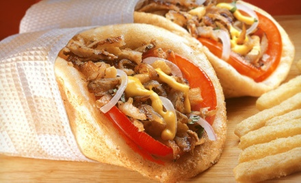 $15 for $30 Worth of Cheesesteaks, Burgers, and Gyros for Two at Wise Guys Philly Cheesesteak n Gyros