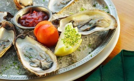 Oysters or Lobster Feast for Two with Wine or Champagne at Psari (Up to 50% Off)