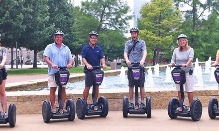 Trinity Trails Tour for One, Two, or Four, or Segway Rental for Two from Cowtown Segway Tours (Up to 52% Off)