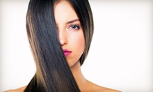 Haircut and Blow-Dry with Optional Partial or Full Highlights at AKA Studios (Up to 75% Off)