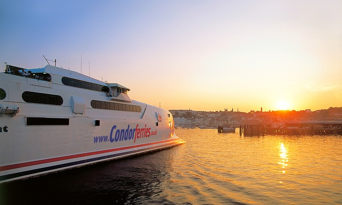 Condor Ferries - Merchandising (UK): Guernsey Ferry: Return Day Trip From Weymouth or Poole For Child for £10; For Adult for £15 With Condor Ferries