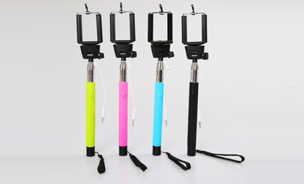 3D Luxe Selfie Extendable Monopod with Remote Smartphone-Camera Shutter