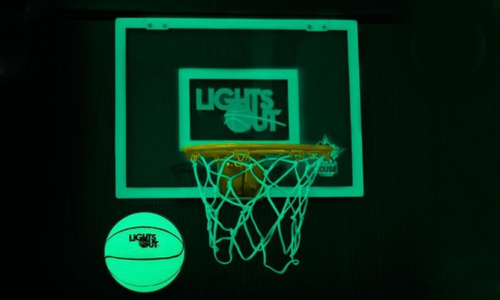 Lights Off Glow In The Dark Mini Basketball Hoop Groupon