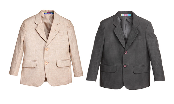 Rs.625 for a Blazer for Kids. Choose from 6 Colors and up to 8 Sizes