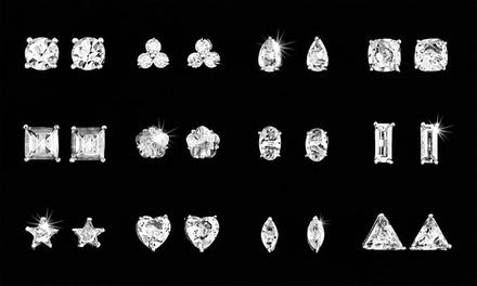Conjunto de 12 pares de brincos com cristais Cubic Zirconia por 19,99€