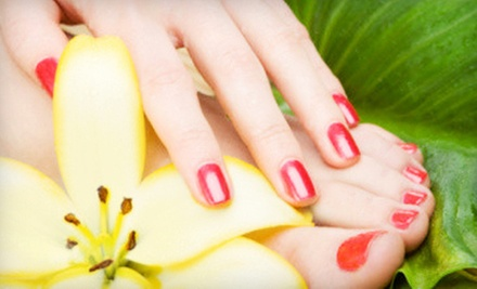 Three Express Manicures, One Express Mani-Pedi, or Three Express Pedicures at de Bonet Chalet (Up to 56% Off)