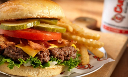 $20 Off Your Bill at Canyons Burger Company. Two Options Available.