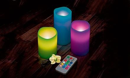 Conjunto de 3 velas LED com comando por 18,99€