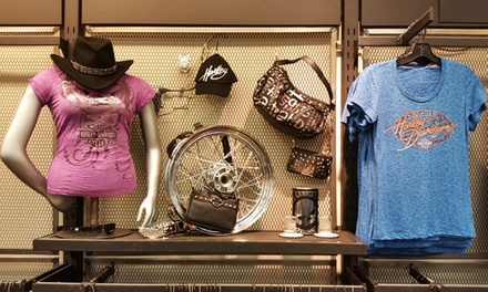 Harley-Davidson Licensed Products at Big Swamp Harley-Davidson (Up to 40% Off). Two Options Available.