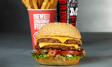 Three or Five Punch-Cards, Each Good for One Burger and Fries at Mooyah Burgers, Fries & Shakes (Up to 46% Off)
