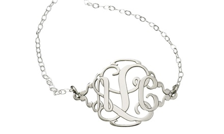 One Monogram Charm Anklet, Necklace, Bracelet, or Pair of Earrings from AJ's Collection (Up to 57% Off)