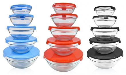 BeautyKo Durable Glass Storage-Bowl Sets