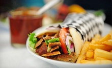 Greek Cuisine and Drinks at Akropolis Restaurant &amp; Coffee (Half Off). Two Options Available.