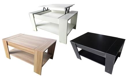 Mesa de café elevável disponível em três cores por 79,90€