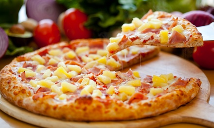 Large Pizza for Dine-In or Takeout or Family Meal with Two Pizzas and Four Drinks at Geraldi's (Up to 37% Off)