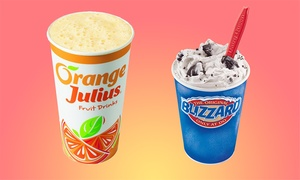 Juice, Ice Cream, And American Food At Dairy Queen And Orange Julius (up To 40% Off). Three Options Available.