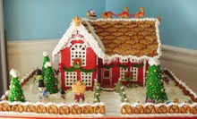 Assorted Holiday Cookies, Two Pies, or an Edible Holiday Gingerbread House at Gourmet Bake Shoppe (Up to 52% Off)