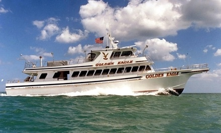 Fishing Trip and Sunset Cruise for One or Two from Golden Eagle Fishing (Up to 51% Off). Two Options Available.