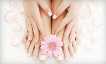 Classic Pedicures and Shellac Manicures from Veronica Romero at Curl Up & Dye (Up to 57% Off). Three Options Available.