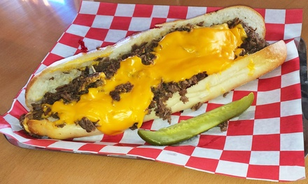 Casual American Food for Two or Four at Fat Larry's Cheesesteak & Hoagies (Up to 75% Off)