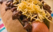 $4 for $8 Worth of Gourmet Hot Dogs and Soft Drinks at Mad Dogz