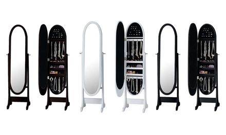 Espelho guarda-joias disponível em três cores diferentes por 69,99€
