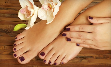 Mani-Pedi at Sacred Beauty Massage N&#x27; Spa (Up to 51% Off). Two Options Available.
