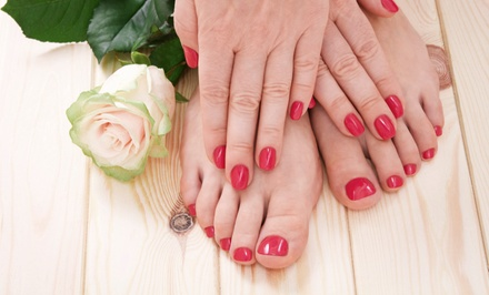 Waterless Gel Manicure and Regular Pedicure or Waterless Manicure and Gel Pedicure at S.P.A. Exclusive (50% Off)