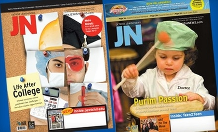 $39 for a One-Year Subscription to Detroit Jewish News ($79 Value)