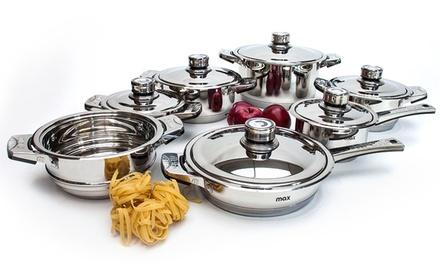Trem de cozinha profissional Max Bavaria com 13 peças por 79,95€