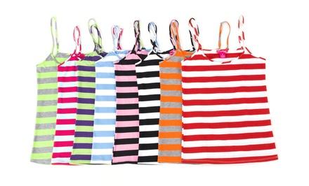 8-Pack of Ladies' Striped Cami Tanks