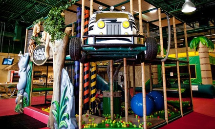 One, Three, or Five All-Day Passes or Jungle Hut Birthday for Up to 15 Kids at Safari Nation (Up to 50% Off)
