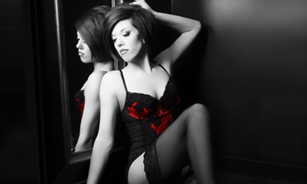 Boudoir, Family, or Couple Photo Shoot with Print, DVD, Makeup, and Hairstyling at Glamour Shots (Up to 96% Off)