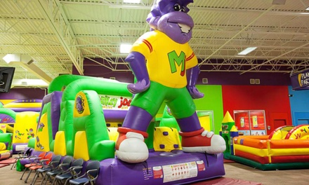 Bounce-House Play for One or Four Kids, or Weekday or Weekend Party at Monkey Joe's (Up to 52% Off)