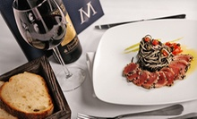 Italian Dinner for Two or Four with Appetizers, Entrees, Wine, and Dessert at Marcony Ristorante (Up to 53% Off)