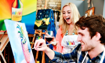 Dallas: 2.5-Hour Painting Party for One, Two, or Four at Bottle & Bottega Plano (43% Off)